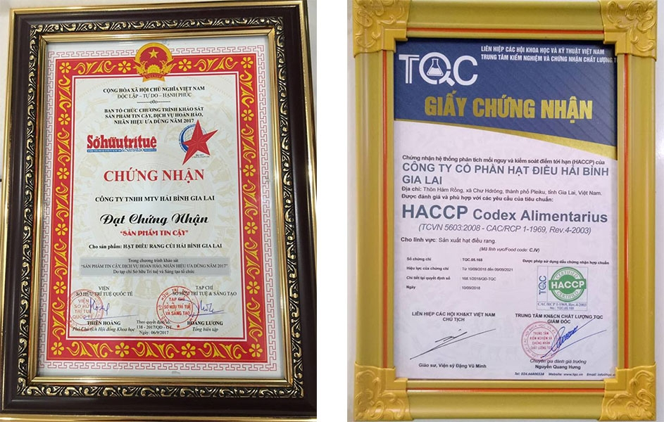 Chứng nhận ISO 22000, HACCP